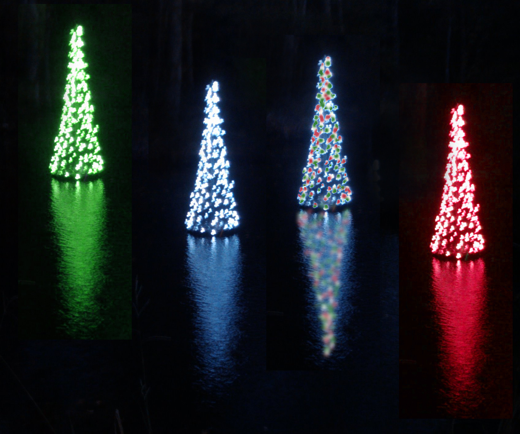 floating christmas tree - Blue And White Outdoor Christmas Decorations